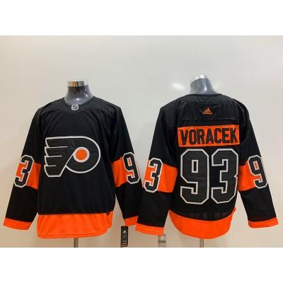 NHL Flyers 93 Jakub Voracek Black Adidas Men Jersey