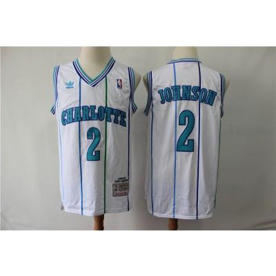 NBA Hornets 2 Frank Jackson White 1992-93 Hardwood Classics Men Jersey