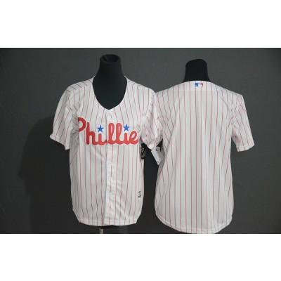 MLB Phillies Blank White New Cool Base Men Jersey