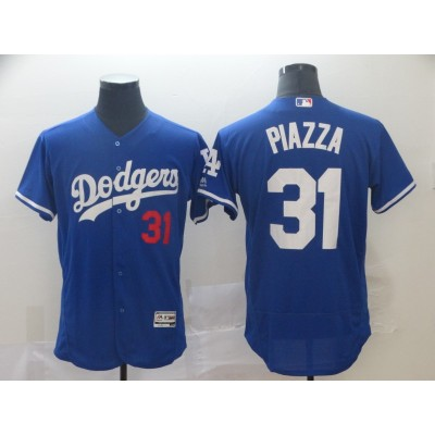 MLB Dodgers 31 Mike Piazza Blue Flexbase Men Jersey