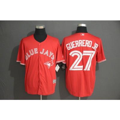 MLB Blue Jays 27 Vladimir Guerrero Jr. Red Cool Base Men Jersey