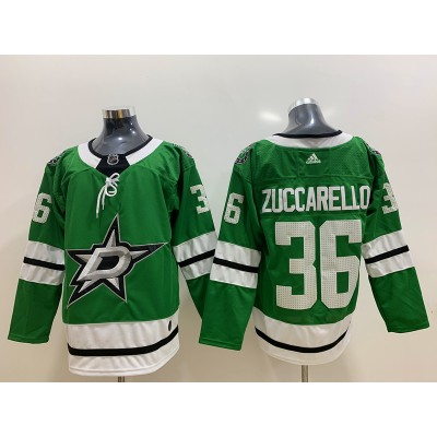 NHL Stars 36 Mats Zuccarello Green Adidas Men Jersey