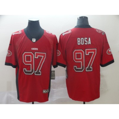 Nike 49ers 97 Nick Bosa Red Drift Fashion Vapor Limited Men Jersey