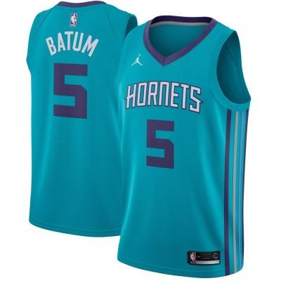 NBA Hornets 5 Nicolas Batum Jordan Brand Teal Men Jersey