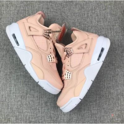 Nike Air Jordan 4 Pink White Shoes