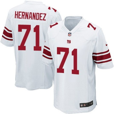 Nike New York Giants 71 Will Hernandez White Elite Men Jersey
