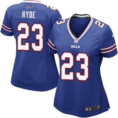 NFL Nike Bills 23 Micah Hyde Royal Blue Women's Jersey