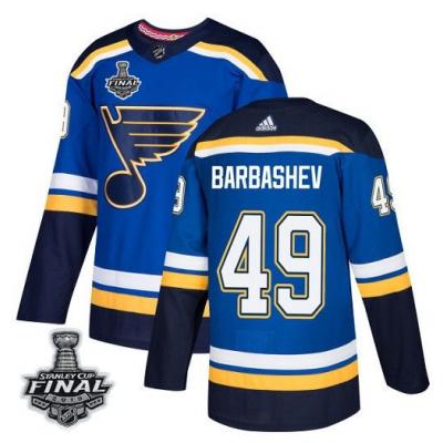 NHL St. Louis Blues 49 Ivan Barbashev 2019 Stanley Cup Final Blue Adidas Men Jersey