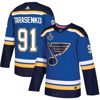 NHL St. Louis Blues 91 Vladimir Tarasenko 2019 Stanley Cup Final Blue Adidas Men Jersey