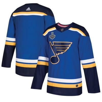 NHL St. Louis Blues Blank 2019 Stanley Cup Final Blue Adidas Men Jersey