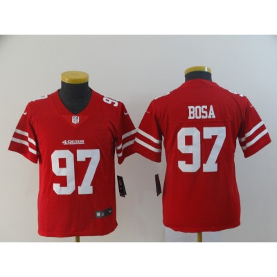 Nike 49ers 97 Nick Bosa Red Vapor Untouchable Limited Youth Jersey