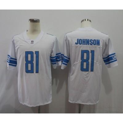 Nike Lions 81 Calvin Johnson White Vapor Untouchable Limited Men Jersey