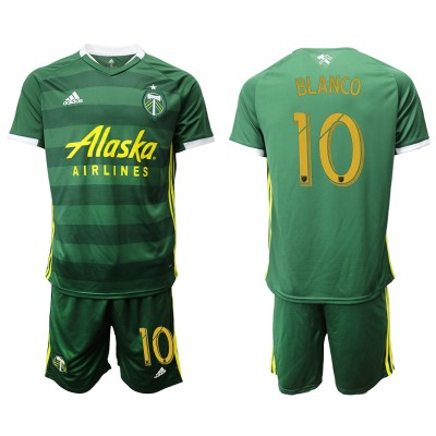 2019 20 Portland Timbers 10 BLANCO Home Soccer Men Jersey