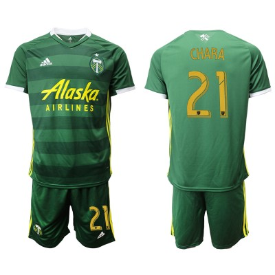 2019 20 Portland Timbers 21 CHARA Home Soccer Men Jersey
