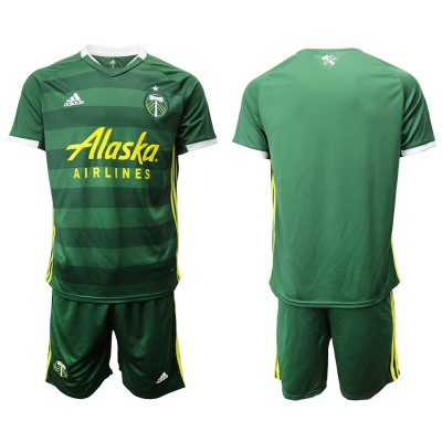 2019 20 Portland Timbers Home Soccer Men Jersey