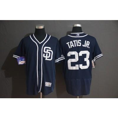 MLB Padres 23 Fernando Tatis Jr. Navy Flexbase Men Jersey