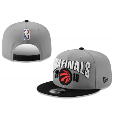 NBA Raptors Team Logo Gray Adjustable Hat YD