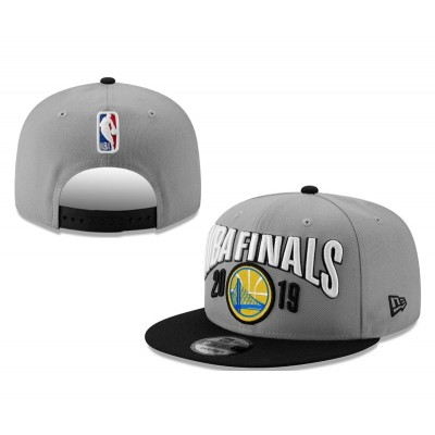 NBA Warriors Team Logo Gray 2019 NBA Finals Adjustable Hat YD