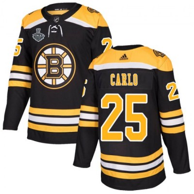 NHL Boston Bruins 25 Brandon Carlo  2019 Stanley Cup Final Black Adidas Men Jersey
