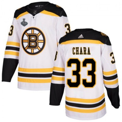NHL Boston Bruins 33 Zdeno Chara 2019 Stanley Cup Final White Adidas Men Jersey