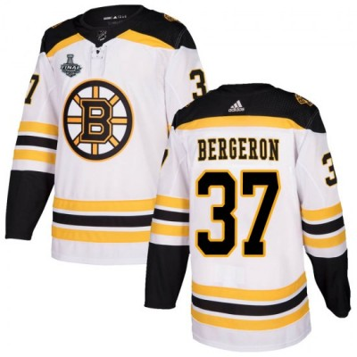 NHL Boston Bruins 37 Patrice Bergeron 2019 Stanley Cup Final White Adidas Men Jersey