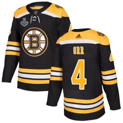NHL Boston Bruins 4 Bobby Orr 2019 Stanley Cup Final Black Adidas Men Jersey