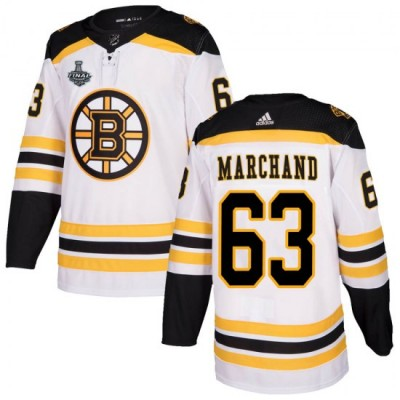 NHL Boston Bruins 63 Brad Marchand 2019 Stanley Cup Final White Adidas Men Jersey