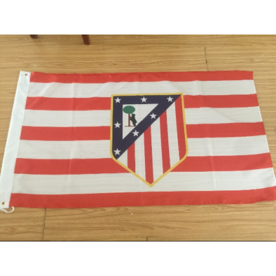 Atletico Madrid FC Team Flag  1