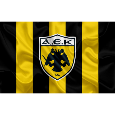 AEK Athens FC Team Flag 2