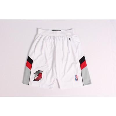 NBA Blazers White Shorts