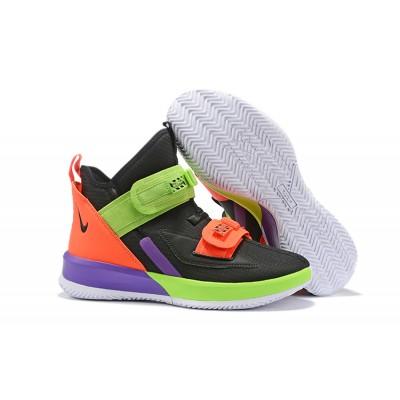 Nike LeBron Soldier 13 Black Orange Purple Shoes
