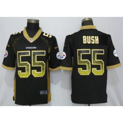 Nike Steelers 55 Devin Bush Black Drift Fashion Limited Men Jersey
