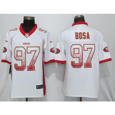 Nike 49ers 97 Nick Bosa White Drift Fashion Limited Men Jersey