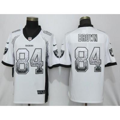 Nike Raiders 84 Antonio Brown White Drift Fashion Limited Men Jersey