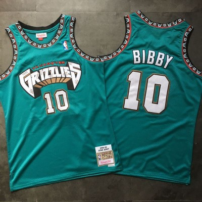 NBA Grizzlies 10 Mike Bibby Teal 1998-99 Hardwood Classics Men Jersey