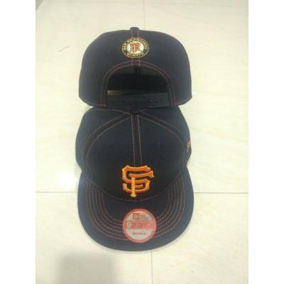 MLB San Francisco Giants Team Logo Black Adjustable Hat LT