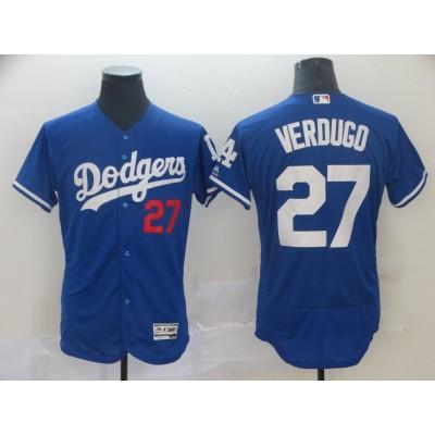 MLB Dodgers 27 Alex Verdugo Blue Flexbase Men Jersey
