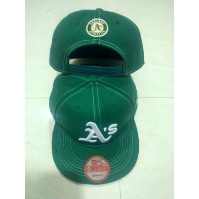 MLB Athletics Team Logo Green Adjustable Hat LT