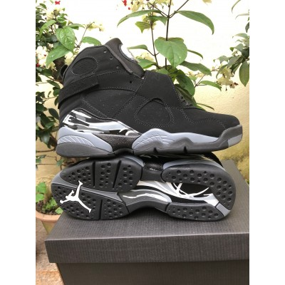 Air Jordan 8 Chrome Black Shoes
