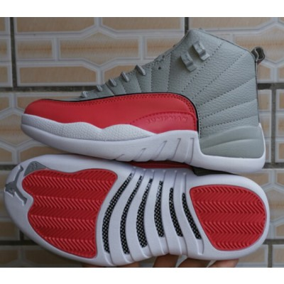 Air Jordan 12 Valentine Day Gray Red Shoes