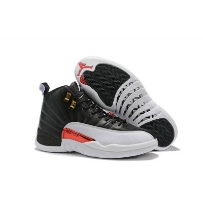 Air Jordan 12 Air Sole High Black White Black Shoes