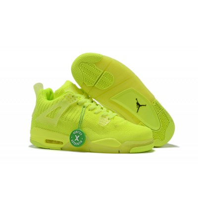 2019 New Air Jordan 4 Flyknit Volt Shoes