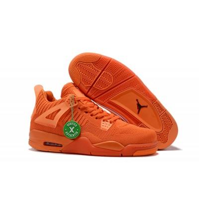 2019 New Air Jordan 4 Flyknit Total Orange Shoes