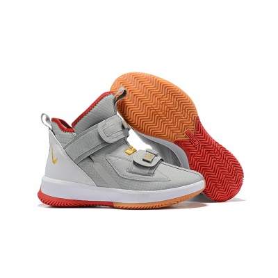 Nike LeBron Soldier 13 Light Gray Red Shoes