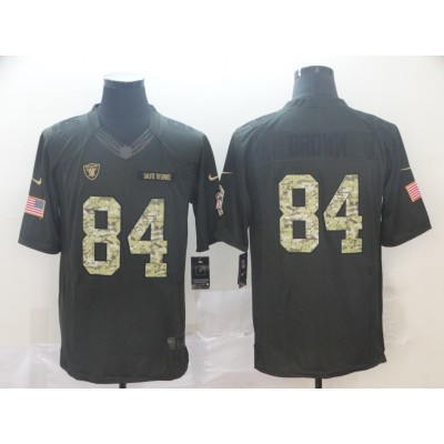 Nike Raiders 84 Antonio Brown Anthracite Salute to Service Limited Men Jersey