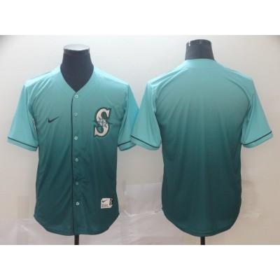 MLB Mariners Blank Green Drift Fashion Men Jersey