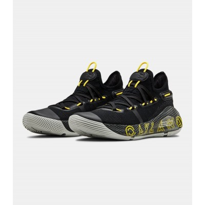 Under Armour Grade School Black Gold Shoes