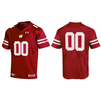 NCAA Under Armour Wisconsin Badgers Red Football Customized Toddler Jersey