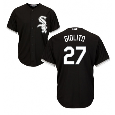 MLB White Sox 27 Lucas Giolito Black Cool Base Men Jersey