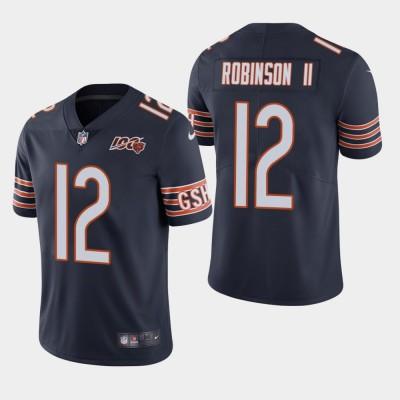 Nike Bears 12 Allen Robinson II Navy 100th Anniversary Vapor Untouchable Limited Men Jersey